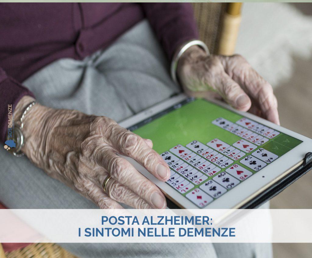 Posta Alzheimer: i sintomi nelle demenze