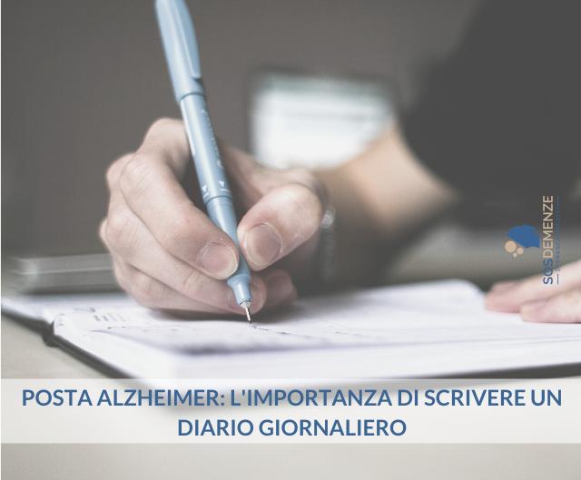 Posta Alzheimer: l'importanza di scrivere un diario giornaliero